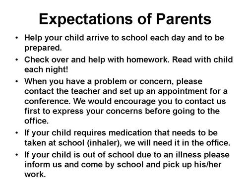 the expectations of parents How can the answer be improved.